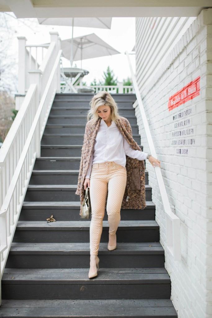 tuxedo-shirt-lillap-velvet-jeans-anthropologie-polkadot-city-peach