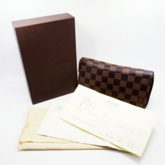 高雄青蘋果3c收購路易威登 Louis Vuitton LV Damier N60015 棋盤格紋拉鍊長夾