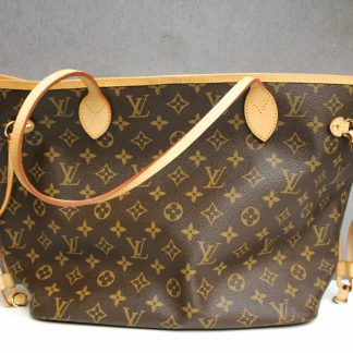 高雄青蘋果3c收購二手LV Louis Vuitton M41178 Neverfull MM子母包