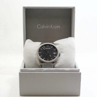 高雄青蘋果3c收購CK Calvin Klein 橫紋設計時尚腕錶