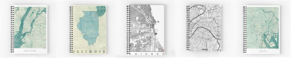 Stationary Note Book Map