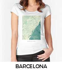 Barcelona Map City Art Posters