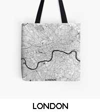 London Map City Art Posters