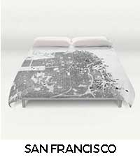 San Francisco Map City Art Posters