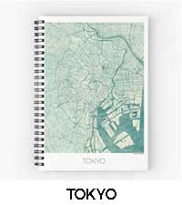 Tokyo Map City Art Posters