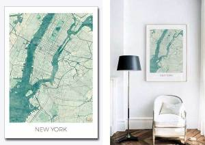 New York city art map posters New York Quiz
