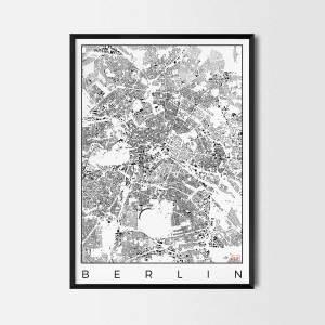 Berlin schwarzplan Urban plan city map art