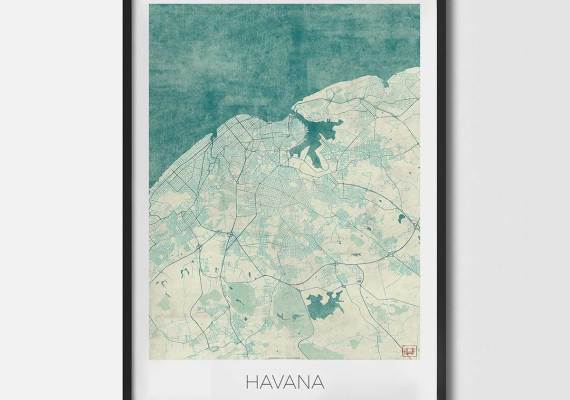 City art posters map posters and art prints cool world maps for sale havana city art city art posters city art prints city map art city map art prints gumiabroncs Gallery