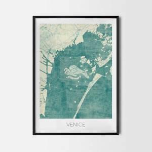 Venice art posters city map