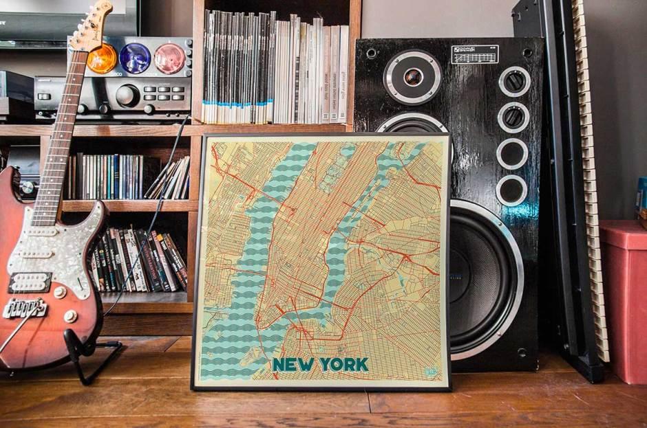 New York Map Prints