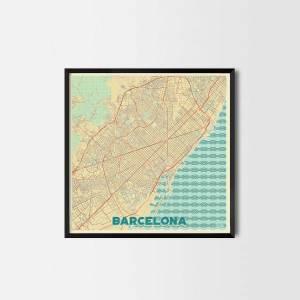 Barcelona City Prints