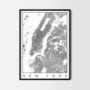 New York Map Poster schwarzplan Urban plan city map art posters map posters city art prints city posters
