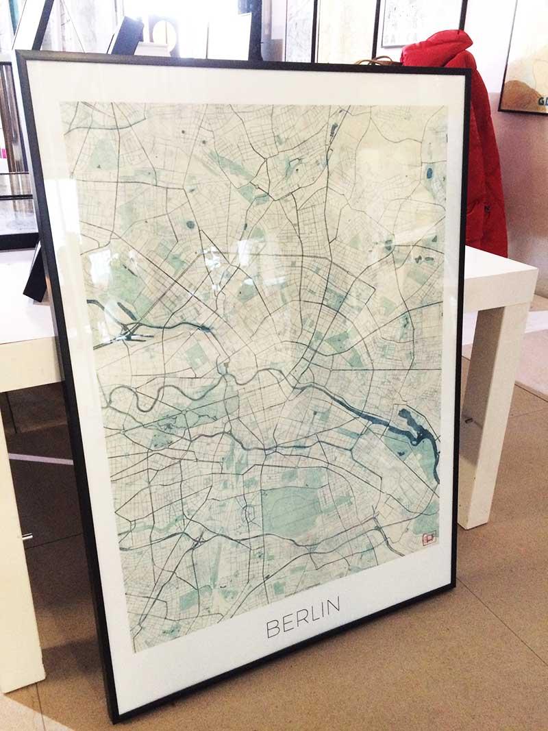 Berlin map art poster city