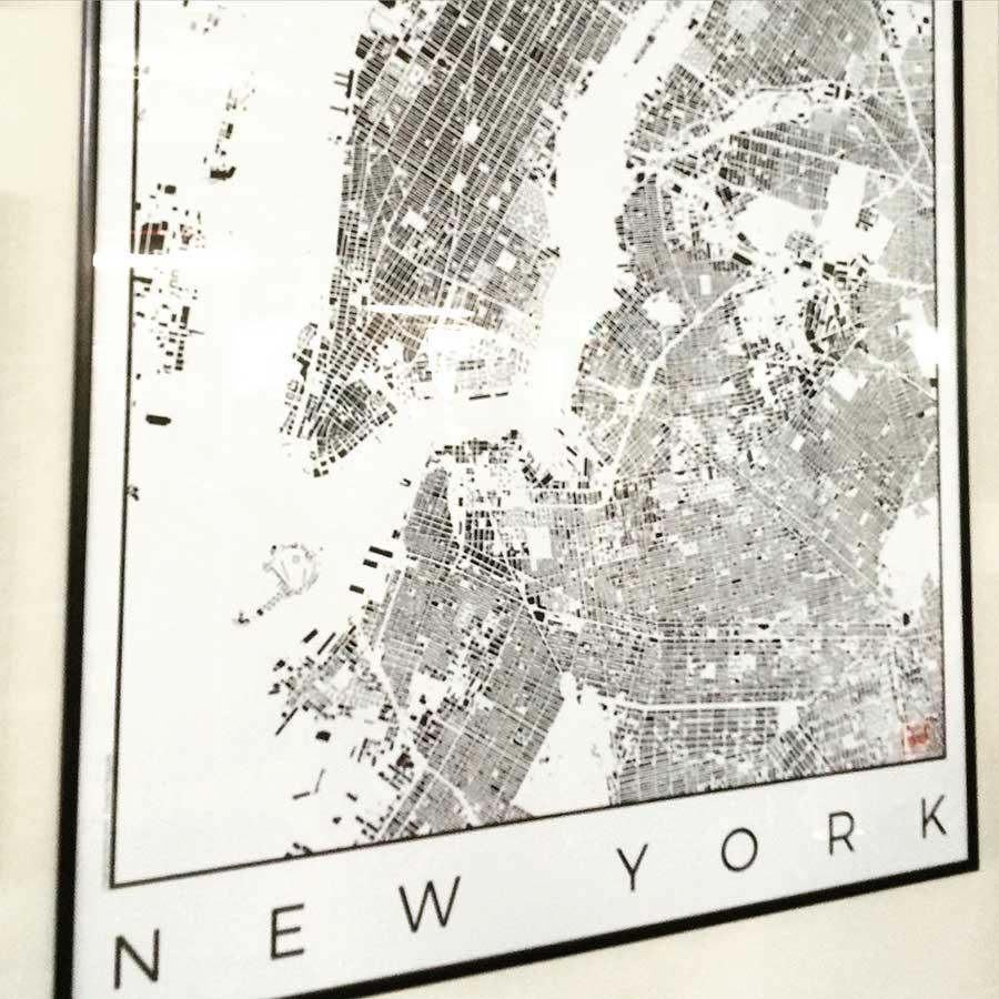 New York artposters artprints city map design