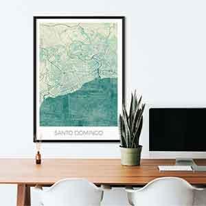 Santo Domingo gift map art gifts posters cool prints neighborhood gift ideas
