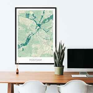 Postdam gift map art gifts posters cool prints neighborhood gift ideas