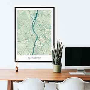 Budapest gift map art gifts posters cool prints neighborhood gift ideas