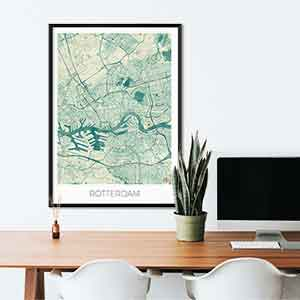 Rotterdam gift map art gifts posters cool prints neighborhood gift ideas