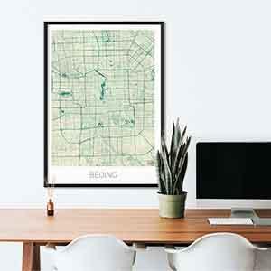 Beijing gift map art gifts posters cool prints neighborhood gift ideas