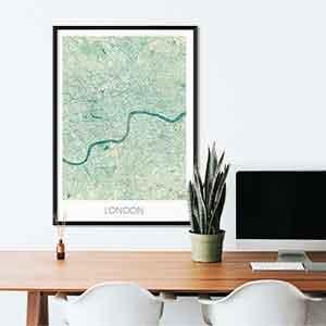 London gift map art gifts posters cool prints neighborhood gift ideas