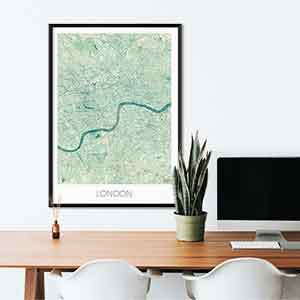 London gift map art gifts posters cool prints neighborhood gift ideas
