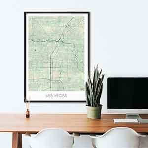 Las Vegas gift map art gifts posters cool prints neighborhood gift ideas