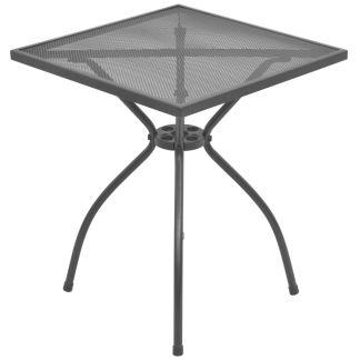 vidaXL Lauko bistro stalas, plienas, tinklelis, 60x60x70cm