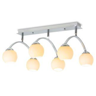 vidaXL Lubų šviestuvas su 6 LED G9 lemputėmis, 240 W