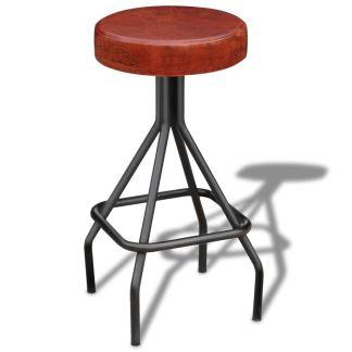 vidaXL Baro kėdė, tikra oda, ruda ir juoda