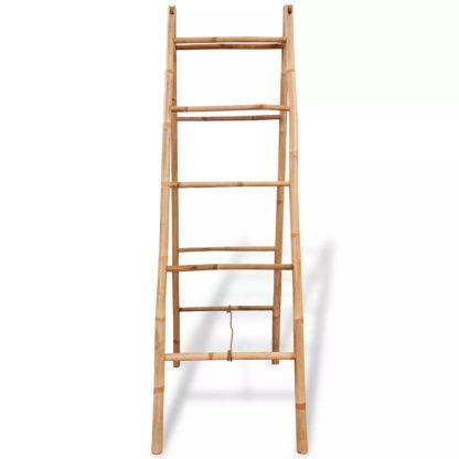 Dvigubos kopėčios rankš. su 5 laipteliais, bambukas, 50×160 cm