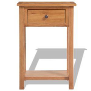 Konsolinis staliukas, 50x32x75cm, ąžuolo medienos masyvas