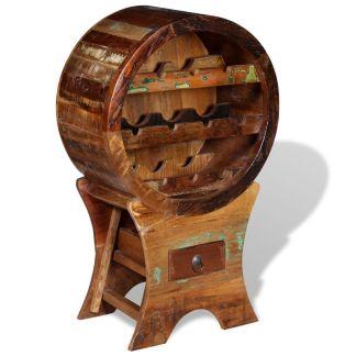 vidaXL Stovas vynui skirtas 10 butelių, masyvi perdirbta mediena
