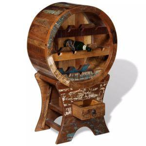 Stovas vynui skirtas 10 butelių, masyvi perdirbta mediena