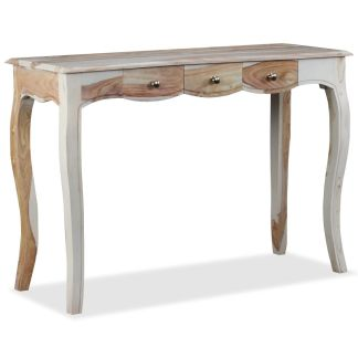 vidaXL Konsolinis staliukas, 3 stalčiai, raudonmedis, 110x40x76cm