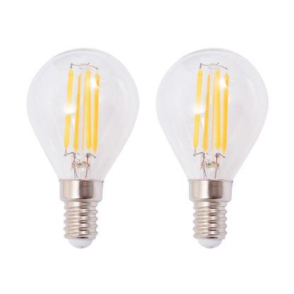Sieninis šviestuvas su 2 LED filament. lemputėmis, 2vnt., 8W