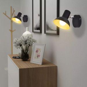Lubiniai šviestuvai su 2 E27 lemp., 2vnt., juoda ir auksinė