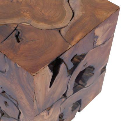 Kėdutės/kavos staliukas, masyvi tikmedžio mediena