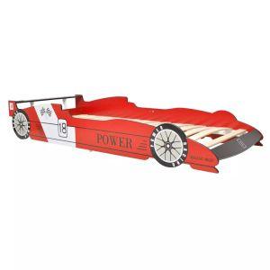 Vaikiška lova lenktyninė mašina, 90×200 cm, raudona
