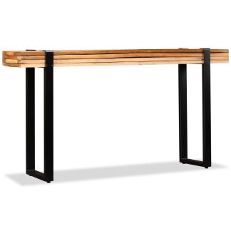 vidaXL Konsolinis staliukas, tvirta perdirbta mediena, reguliuojamas