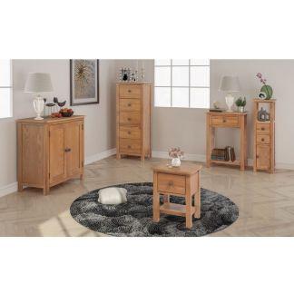 vidaXL Svetainės baldų komplektas, 5d., masyvi ąžuolo mediena