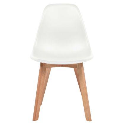Valgomojo kėdės, 2 vnt., baltos sp.