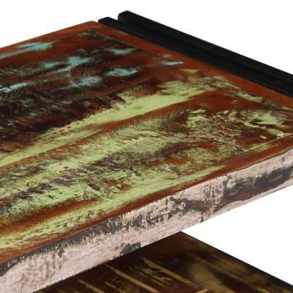 TV spintelė, masyvi perdirbta mediena, 120x30x40cm