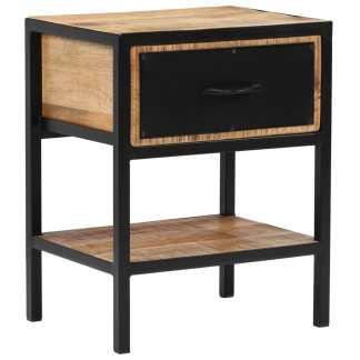 vidaXL Naktinis staliukas, mango mediena, 40x30x50cm