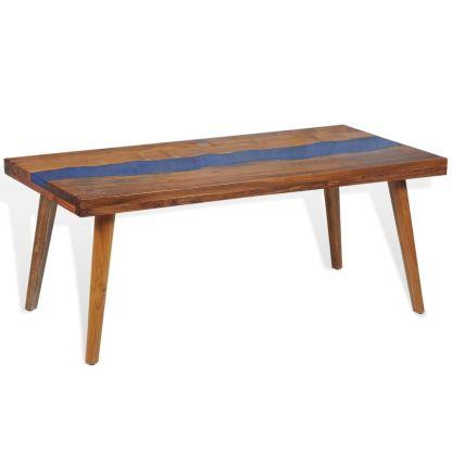 Kavos staliukas, tikmedis ir derva, 100x50x40cm