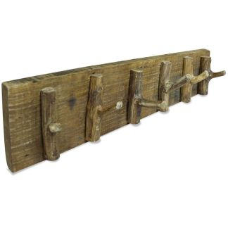 vidaXL Paltų kabykla, perdirbtos medienos masyvas, 60x15cm