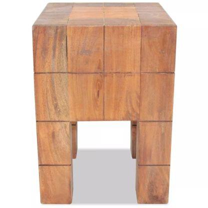 Taburetė, masyvi perdirbta mediena, 28x28x40cm