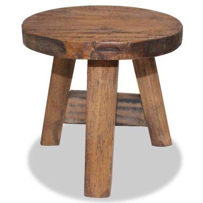 vidaXL Taburetė, masyvi perdirbta mediena, 20x20x23cm