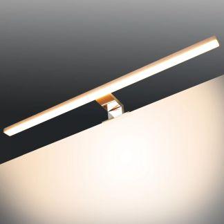 vidaXL Veidrodinis šviestuvas, 8W, šiltos baltos spalvos