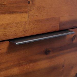 Komoda su stalčiais, akacijos medienos masyvas, 45x32x115cm