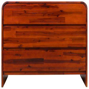 Komoda su stalčiais, akacijos medienos masyvas, 90x37x75cm